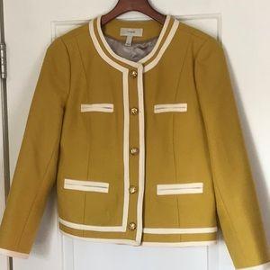 Yellow wool JCrew military-style jacket